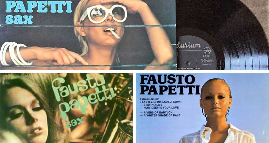 Fausto Papetti Raccolta album covers collage