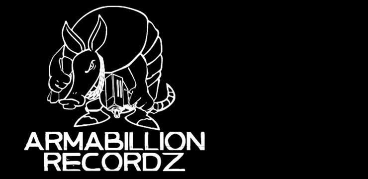 Armabillion recordz logo with the Uzi