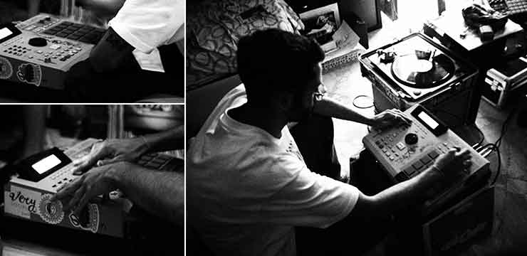 J. Raise Jr. making beats with Akai MPC2000 XL