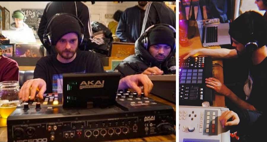 Senz Beat at Loop Session making beats on Akai MPC5000