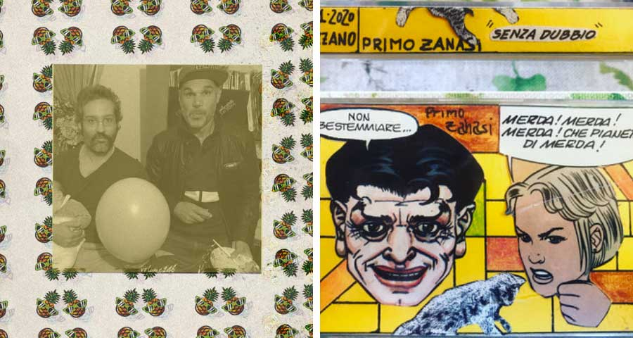 Primo Zanasi with Brothermartino and a collage tape cover