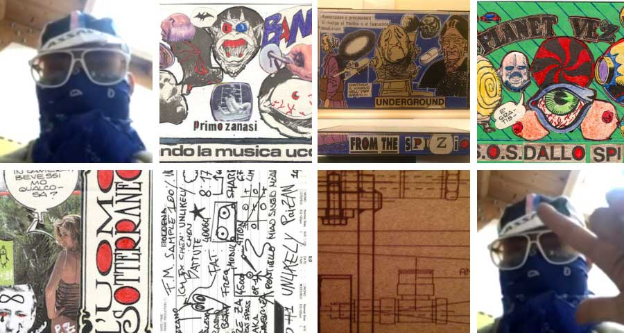 Primo Zanasi distinctive artworks for his limited cassette tapes